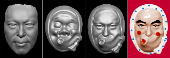 いくつかの3Dデーターを合成して新たなモデリングをする